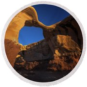 Metate Arch Round Beach Towel