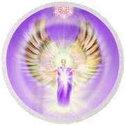 Metatron - Pastel Round Beach Towel