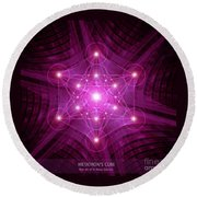 Metatron's Cube Round Beach Towel