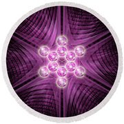 Metatron's Cube Atomic Round Beach Towel