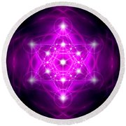 Metatron's Cube Vibration Round Beach Towel