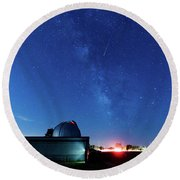 Meteor And Observatory Round Beach Towel