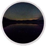 Meteor Over Chocorua Lake Round Beach Towel