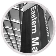 Round Beach Towel featuring the photograph Metro Station Eastern Market by John S