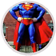 Metropolis - Home Of Superman 001 Round Beach Towel