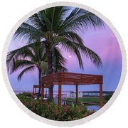 Mexican Moonrise Mexican Art By Kaylyn Franks Round Beach Towel
