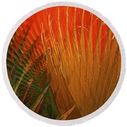 Mexican Palm Round Beach Towel