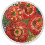 Mexican Pincushion Round Beach Towel