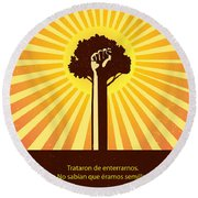 Mexican Proverb Round Beach Towel