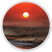Mexico Beach Sunrise Round Beach Towel