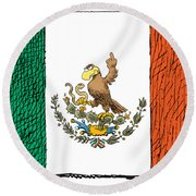 Mexico Flips Bird Round Beach Towel