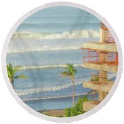 Mexico Rising Round Beach Towel