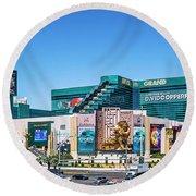 Mgm Grand Casino  2 To 1 Ratio Round Beach Towel