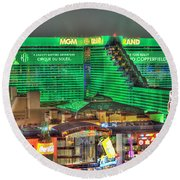 Mgm Grand Las Vegas Round Beach Towel by Nicholas  Grunas
