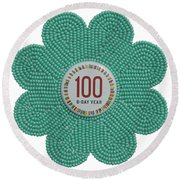 Mia Mint Green Round Beach Towel