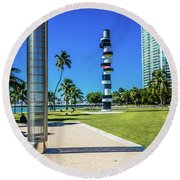 Miami Beach Series 4497 Round Beach Towel