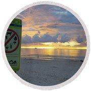 Miami Beach Sunrise Round Beach Towel