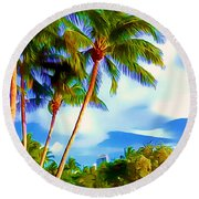 Miami Maurice Gibb Memorial Park Round Beach Towel