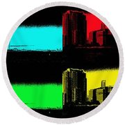 Miami Pop Art Panorama Round Beach Towel by Christiane Schulze Art And Photography