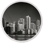 Miami Skyline 2744 Round Beach Towel