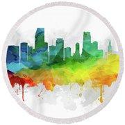 Miami Skyline Mmr-usflmi05 Round Beach Towel