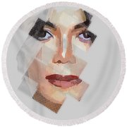 Michael Jackson T Shirt Edition  Round Beach Towel