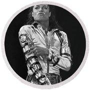 Michael Jackson The King Of Pop Round Beach Towel