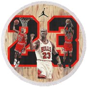 Michael Jordan Round Beach Towel