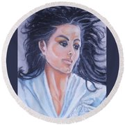 Michael Remembered Round Beach Towel