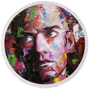 Michael Stipe Round Beach Towel by Richard Day