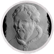 Michelangelo Round Beach Towel