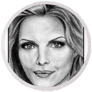 Michelle Pfeiffer In 2010 Round Beach Towel by J McCombie