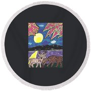 Michigan Nature Scene. Round Beach Towel