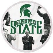 Michigan State Coaching Legends Round Beach Towel