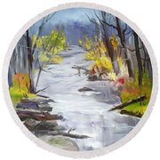 Michigan Stream Round Beach Towel