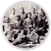 Michigan Wolverine Football Heritage 1890 Round Beach Towel by Daniel Hagerman