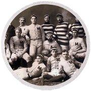 Michigan Wolverines Football Heritage 1888 Round Beach Towel by Daniel Hagerman