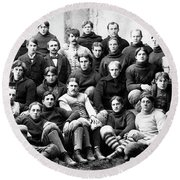 Michigan Wolverines Football Heritage  1895 Round Beach Towel by Daniel Hagerman