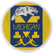 Michigan Wolverines Round Beach Towel