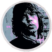 Mick Jagger In London Round Beach Towel