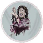 Mick Jagger Round Beach Towel