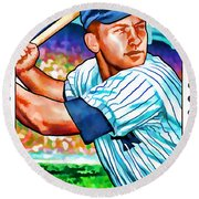 Mickey Mantle Round Beach Towel by Lanjee Chee