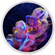 Micro Space - Colorful Abstract Photography Round Beach Towel