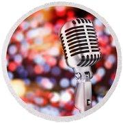 Microphone Round Beach Towel