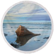 Mid February Round Beach Towel