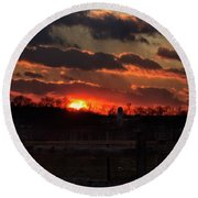 Round Beach Towel featuring the photograph Mid Ohio Sunset by Bruce Patrick Smith