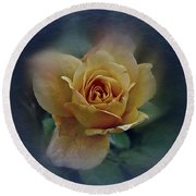 Round Beach Towel featuring the photograph Mid September Rose by Richard Cummings