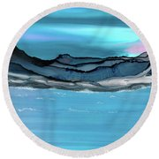 Midday Moon Round Beach Towel