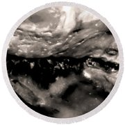 Middle Earth Shell Story Round Beach Towel