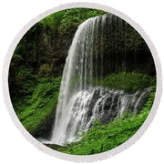 Middle Falls Round Beach Towel